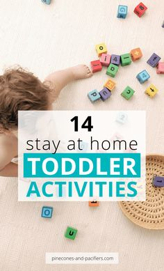 I'm sharing 14 ideas for keeping your young toddler entertained while at home. Being stuck at home can see daunting and draining, but this post can help! games for toddlers Toddler Home Activities, Activities For 1 Year Olds, Toddler Play, Summer Activities For Kids, Indoor Activities, Toddler Crafts, Baby Activities, Science Activities, Kids Fun