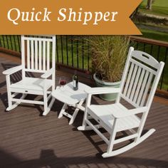 Trex Outdoor Furniture Yacht Club White Frame Bistro Patio Set Bistro at Lowe's. There's just something about a rocker that makes one want to slow down time and relax awhile longer. The Trex® Outdoor Furniture™ Yacht Club