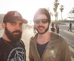 Time to move to LA @i_m_shawn. Venice Beach is 80 degrees right now.  #venicebeach #venice #musclebeach #friends #beardlife #bearded #beard #beards #manlythings #manly #man #beardgang #selfie #selfieoftheday #photooftheday #beach #travel #traveling #la #losangeles #flytime #flying #california #palmtrees #palms #palm by alimahvan