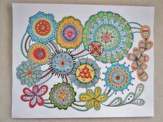 Zentangle Coloring Page for Children or Adults  by TheTangledCat, $2.60