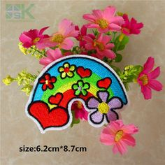 Find More Patches Information about Patches Wholesale  cute rainbow embroidered Iron On Patches for clothes cartoon badge Guaranteed Quality Appliques diy accessory,High Quality patch attach,China iron on flower patches Suppliers, Cheap iron fabric patch from Guangzhou Yikunze Trade Co., Ltd. on Aliexpress.com
