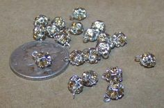 20 Pcs. Tiny 4.6mm Austrian Crystal Encrusted by collectivecollage