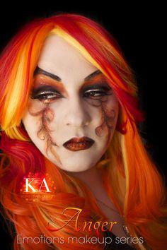 Emotions Makeup Series: Anger by KatieAlves.deviantart.com on @DeviantArt