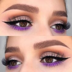 WEBSTA @ pippathundow - Pop of purple________ @mywunderbrow prime and behold primer @makeupgeekcosmetics chickadee, frappe, cocoa bear, mocha, white lies, caitlin rose @nyxcosmetics epic ink liner @lillylashes Cannes @morphebrushes 35P palette @anastasiabeverlyhills brow wiz dark brown @eylureofficial clear brow gel________#anastasiabeverlyhills #abhbrows #abh #anastasiabrows #eylureofficial #wakeupandmakeup #morphebrushes #morphe35p #morphebabe #makeupgeekcosmetics #lillylashes #l
