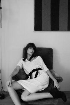 White dress black belt | Casual | Humanoid ss16