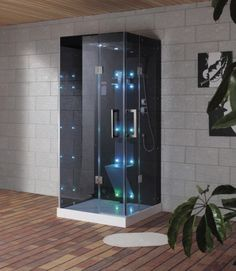 Decorate your bathroom by attaching this beautiful Steam Shower Enclosure Kit in White from Ariel. Comes with rainfall ceiling shower. Steam Shower Units, Steam Shower Enclosure, Homer Decor, Bad Room Ideas, Shower Cabin, Toilet Room, Gym Room, Pole Barn Homes, Shower Panels