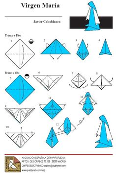 December Week See who in the family can make the best origami Mary. December Week See who in the family can make the best origami Mary. Diy Origami, Gato Origami, Origami Ring, Origami Simple, Origami And Kirigami, Origami Folding, Useful Origami, Paper Crafts Origami, Origami Envelope