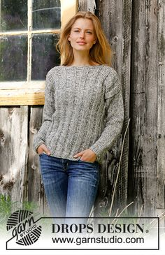 Ravelry: Regn pattern by DROPS design Sweater Knitting Patterns, Loom Knitting, Knit Patterns, Free Knitting, Drops Design, Pull Torsadé, Magazine Drops, Sweater Making, Knit Crochet