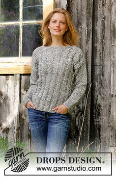 Ravelry: Regn pattern by DROPS design Free Knitting Patterns For Women, Sweater Knitting Patterns, Knit Patterns, Drops Design, Sweater Making, Cardigan Pattern, Knit Crochet, Sweaters For Women, Free Pattern