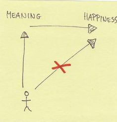It is the very pursuit of happiness that thwarts happiness.  - Viktor Frankl -