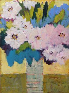 Annie O'Brien Gonzales #stilllife#flowerpaintings#abstractflowerart
