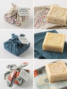 fabric wrapped soap