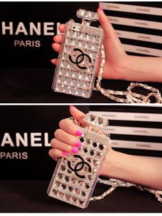 Coque case chanel iPhone 5 6 6+ Chanel double C diamant bling chic http://chicoque.com/coque-iphone-55s/139-coque-case-chanel-iphone-5-6-6-chanel-double-c-diamant-bling-chic-.html
