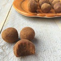 Classic fall flavors make their way into these Pumpkin Cinnamon Raisin Balls for the perfect snack or energy ball pick-me-up.