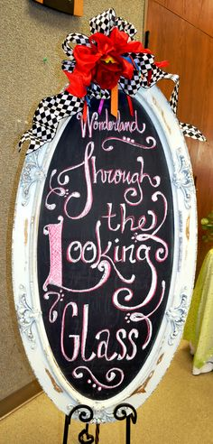 Alice In Wonderland Chalkboard I did for a baby shower #AIW