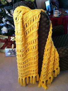 easy eyelet & stockinette stitch prayer shawl