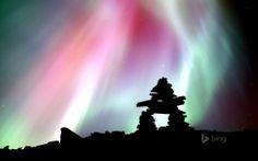 Rainbow colored Aurora Borealis.