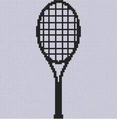Tennis Racket Cross Stitch Pattern #tennis #tenniscrafts #diy