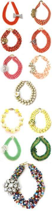 Big bright necklaces - how fun!