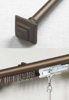 Wressel 1 custom metal curtain rod extra long available curtain rods metals and curtains - Custom iron curtain rods ...
