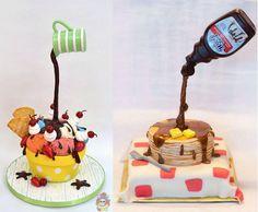 """Vous connaissez le #cupcakes, découvrez maintenant le #gravitycake ! Gravity Cake, Waffles, Birthday Cake, Cupcakes, Breakfast, Desserts, Food, Morning Coffee, Tailgate Desserts"