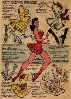 1953 Katy Keene paper doll of ice skater / eBay
