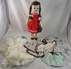 "15"" Singer LuAnn Simms Doll Walker Orig Dress Purse Clothes Accessories 50s"