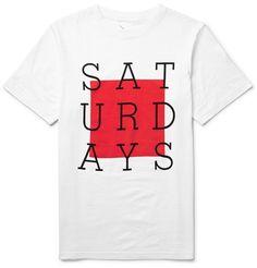 Saturdays Surf NYC - Slab Box Printed Cotton-Jersey T-Shirt|MR PORTER