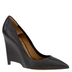 Agnona black leather wedge pumps, from autumn winter 2014. shop.wunderl.com
