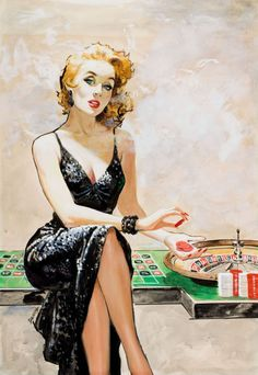 Vintage gambling illustration