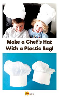 how to make a chef's hat out of a plastic bag