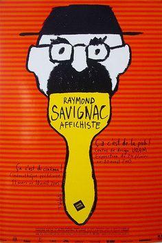 Original Poster UQAM Savignac 2005 Exhibition Poster