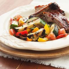 Grilled Ratatouille, a recipe from ATCO Blue Flame Kitchen's From the Grill 2014 cookbook. Lunches And Dinners, Bbq Meals, Perfect Grill, Vegetable Stew, Roma Tomatoes, Ratatouille, Wok, Grilling Recipes, Pot Roast