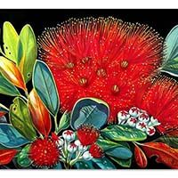 Irina Velman Irina Velman is a West Auckland artist whose paintings can be found in private collections throughout the world. Known for her distinctive style and vibrant colours, Irina's inspiration comes from the dramatic beauty of New Zealand. Flowers Illustration, Botanical Illustration, Silk Painting, Watercolor Paintings, Flower Paintings, Irina S, New Zealand Art, Nz Art, Hawaiian Art