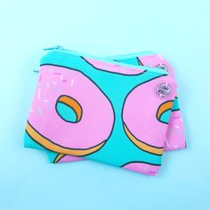 SO cute little donut pattern zipper pouch, which will store anything important you need to carry around! Small Zipper Pouch, Carry On, Store, Cute, Pattern, Bags, Fashion, Handbags, Moda