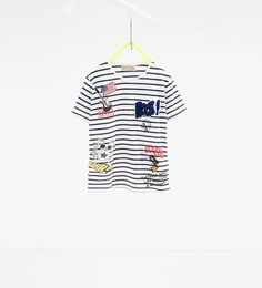 Patches T-shirt-T-SHIRTS-BOY | 4-14 years-COLLECTION AW16 | ZARA United States