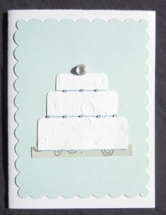 SOLD - Wedding Cake handmade card by AngelBDesigns4You. Like us on Facebook www.facebook.com/AngelBDesigns4You