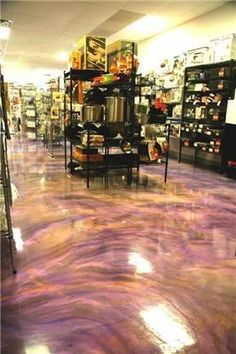 Liquid Dazzle Epoxy Flooring for Concrete Floors. This is the only reason I want to keep my concrete floor.