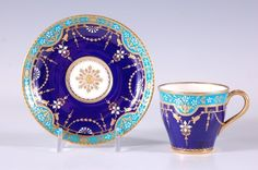 MINTON DEMITASSE CUP AND SAUCER FOR TIFFANY & COMPANY : Lot 146