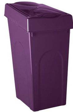 Purple trash can, yes please!