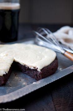 Flourless Chocolate Stout Cake with Orange Mascarpone Frosting @Jackie Godbold Dodd {Domestic Fits}