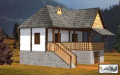 case taranesti peasant houses 9 Design Case, Recycled Crafts, Traditional House, Home Fashion, Romania, Gazebo, House Design, Outdoor Structures, Country