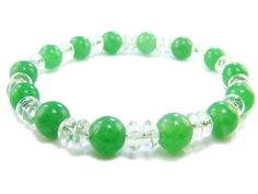 BB0815 Aventurine Clear Quartz Natural Crystal Gemstone Stretch Bracelet - See more at: http://waggashop.com/wagga-shop-bb0815-aventurine-clear-quartz-natural-crystal-gemstone-stretch-bracelet