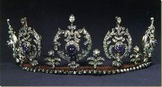 Tiara de zafiros y perlas de la Princesa Elisabeth de Dinamarca.