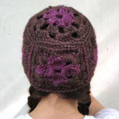 9 Free Crochet Beanie Hat Patterns: Granny Square Crochet Beanie Free Pattern