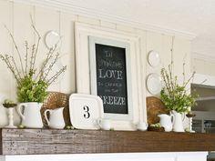 Springtime mantel decorations for-the-home. Vase filler.