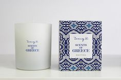 """Green Blu - """"TOMMY K."""" Scents of Grecce scented candle Mastiha"""