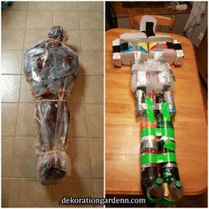 Saw this on here and I love Halloween so much I had to make it! So here it is m… Saw this on here and I love Halloween so much I had to make it! So here it is my dead body that I will be hanging from tree this Halloween! Easy Halloween Decorations, Halloween Designs, Halloween Party Decor, Halloween Garden Ideas, Diy Halloween Decorations For Outside, Zombie Decorations, Halloween Outside, Manualidades Halloween, Adornos Halloween