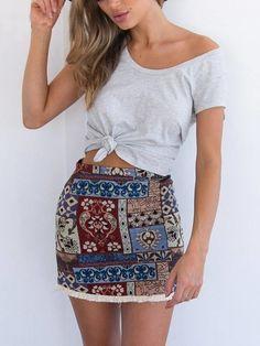 Mini Saia Estampa Vintage - Compre Online | DMS Boutique