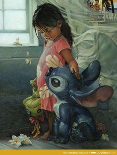 Lilo and stitch art